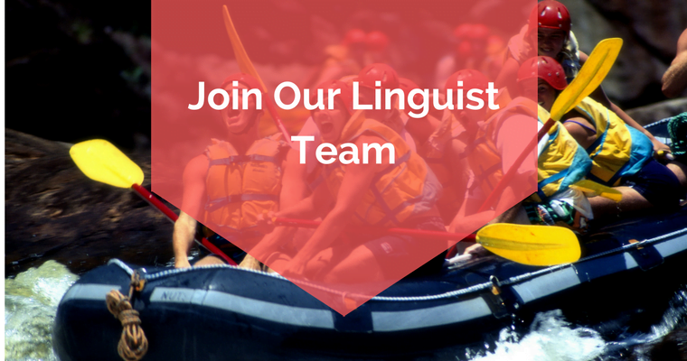 JOIN OUR LINGUIST TEAM