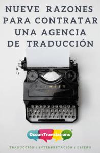 9 razones contratar agencia de traducción