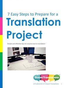 eBook - 7 steps to get started translation project