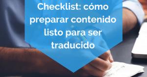 preparar contenido listo para ser traducido