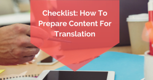 prepare content for translation