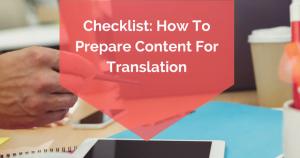 prepare content for translation